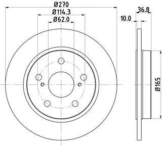 Superficie: revestido Juego de 2 Discos de freno HELLA PAGID 8DD 355 102-511 Disco de freno PRO Eje trasero