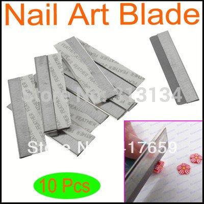 10pcs / set lame de coupe bord enduit pour fimo canes nail art