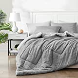 Elegear Summer Cool Duvet, 2 in 1 Combination Summer Duvet 4.5 Tog, Anti Allergy Cool Blanket Keep You Cool and Have a Good Sleep (150x200cm, Gray)