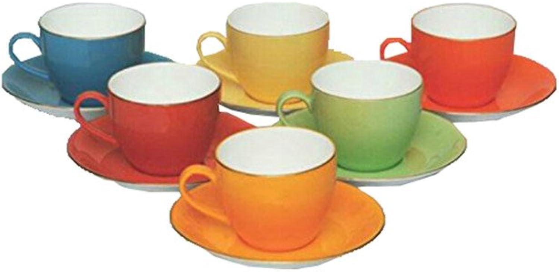 Da Facioun Home Decor Table de service Multi Tasses à thé Tasses à café Lot de 6tasses et soucoupes