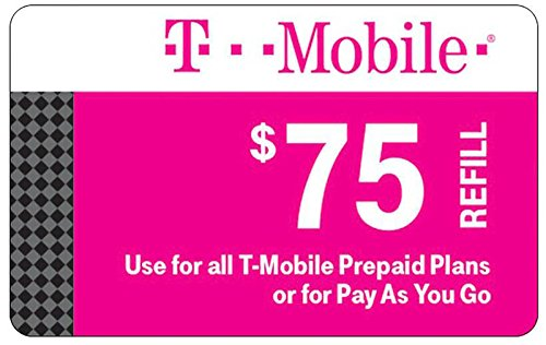 T-mobile $75 Prepaid Refill Card for all T-Mobile Prepaid Plans or Pay As You Go No Annual Contract (email Delivery immediately)