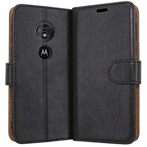 Hülle Collection Hochwertige Leder hülle für Motorola Moto E5 Hülle mit Kreditkarten, Geldfächern & Standfunktion für Motorola Moto E5 Hülle