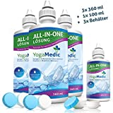 SPARPAKET YogaMedic® Kontaktlinsen Fluessigkeit für weiche Linsen 3x 360ml