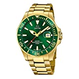 JAGUAR Reloj Modelo J877/2 de la colección Executive, Caja de 43,5 mm Verde con Correa de Acero Chapado para Caballero