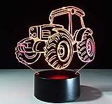 Modelado De Automóviles Decoración Del Hogar 3D Atmósfera Luz Electrónica Usb Sensor Táctil Luz Nocturna Dormitorio Lámpara De Noche