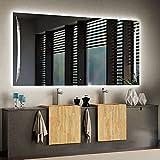 ARTTOR Specchio da Parete Grande - Decorazioni Casa - Specchio LED - Varie Dimensioni - Decorazione Dell'appartamento E Attrezzatura del Bagno - M1ZD-20-100x70