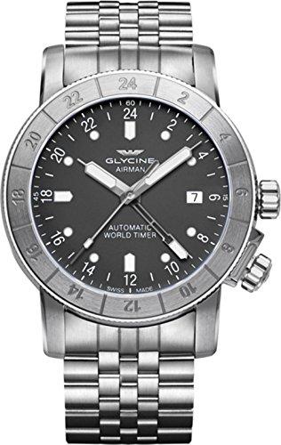 Reloj Automático Glycine Airman 42, GL 293, GMT, Gris, GL0065