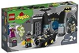 LEGO DuploSuperHeroes Batcaverna con laBatmobileeJoker, Macchinina Giocattolo per Bambini dai 2 Anni, 10919