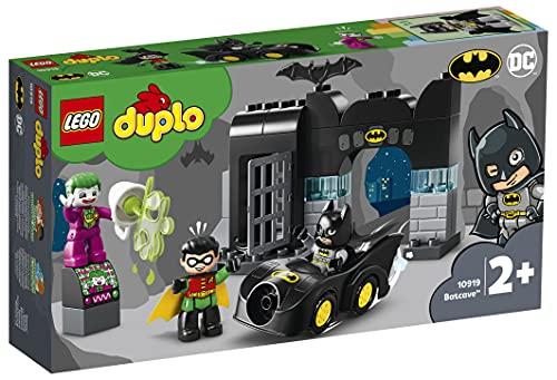 LEGO10919DuploSuperHeroesBatcueva,JuguetedeConstrucciónparaNiños+2añosconMiniFigurasdeBatman,JokeryRobin