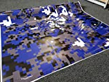 SignSomething Blue Digital Camouflage, Vinyl Wrap, Vehicle Wrap for Car, Truck, & Boat (Glossy, 5'x25')