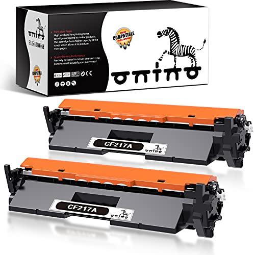 ONINO 17A Reemplazo para 17A CF217A Cartucho de Toner Compatible con Laserjet Pro M102A M102W, HP Laserjet Pro MFP M130a M130nw M130fn M130fw Impresora (2 Negro)