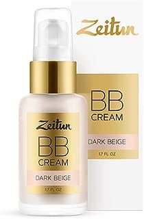 Zeitun Natural BB Cream Dark Beige - Tinted Moisturizer - Hydrating Skin Perfector - Hypoallergenic and Fragrance Free BB Cream 1 fl. oz.