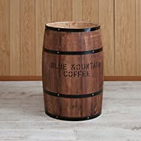 国産ヒノキで造る樽 (特大サイズ直径42㎝, ブラウン)