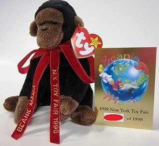 Ty Beanie Baby: Beanie Mania Congo From 1998 New York NY TOY Fair with Commemorative Card & Ribbon! Rare!