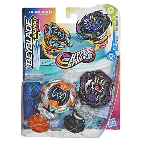 Hasbro Beyblade Burst Rise Hypersphere Doppelpack Dusk Balkesh B5 und Right Artemis A5 – 1 Links- und 1 rechtsdrehender Battling-Kreisel, ab 8