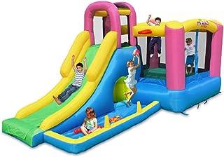 Castillo Inflable Multifuncional Tobogán para Niños Interior Y Exterior Castillo Inflable Grande Entretenimiento para Niños Piscina Inflable Piscina De Bolas Oceánicas para Niños