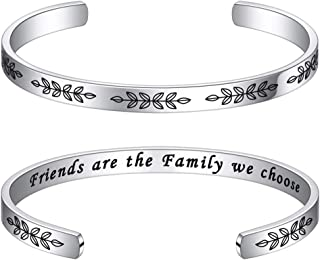 Bracelets for Women Personalized Gifts - Engraved Quote Inspirational Bracelet Birthday Christmas Funny Gifts for Best Fri...