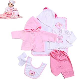 Zero Pam Lovely Clothes Reborn Dolls Girl Outfit Suit for 20-23 Inch Newborn Doll Supplies Reborn Toddler Girl Dolls Acces...