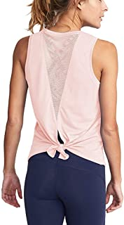 Mippo Women's Cute Yoga Workout Mesh Tank Top Activewear Sexy Open Back Sports Shirt
