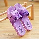 Cxypeng Pool Shoes House Home Slide,Home Bathroom Non-Slip Deodorant Plastic Soft Bottom slippers-36-37_Purple,Non Slip Bathroom Summer Sandals