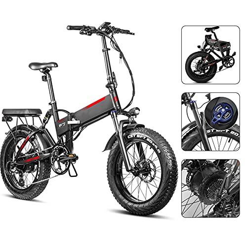 20Zoll Elektrisches Fahrrad Elektrofahrrad Pedelec 750W Bürstenlosen Motor Mit 48V 13.6AH Herausnehmbarer Lithium-Akku 45km/h Reichweite 90km,7 Gang,Scheibenbremsen Kinder Schule bringen