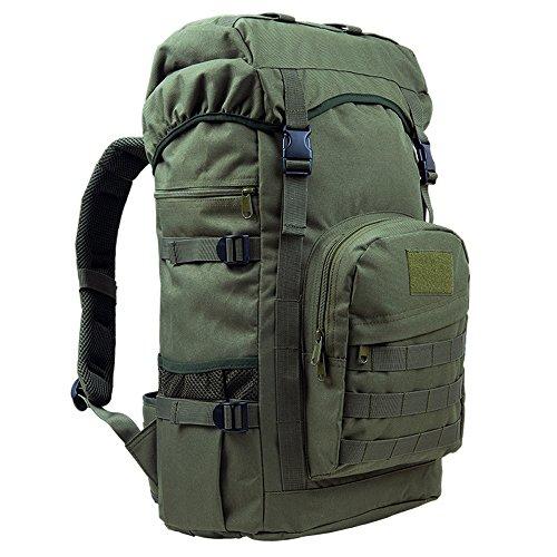Greenpromise 50L Outdoor Military Tactical Rucksack Große Kapazität Camping Taschen Bergsteigen Tasche Herren Wanderrucksack Reiserucksack (Armeegrün)