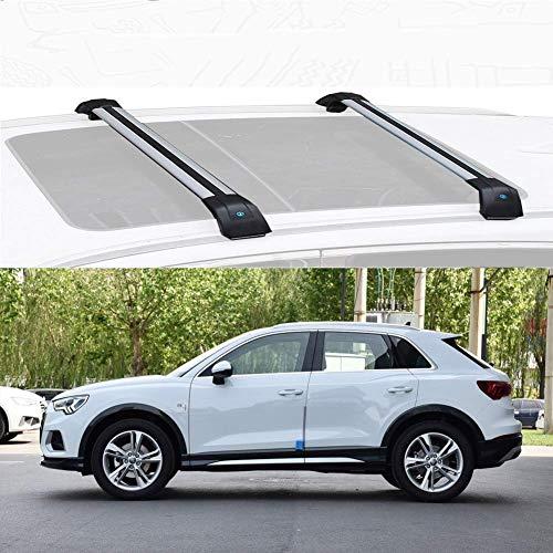 SFSGH Ajuste Personalizado para Q3 Barras de Techo de aleación de Aluminio Barras Cruzadas Barras de Carga de Techo Barras de Techo de Coche para Q3 2013-19 (Tamaño: para Audi Q3 2019)