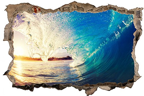 Wasser Welle Meer Surfen Wandtattoo Wandsticker Wandaufkleber D0370 Größe 60 cm x 90 cm