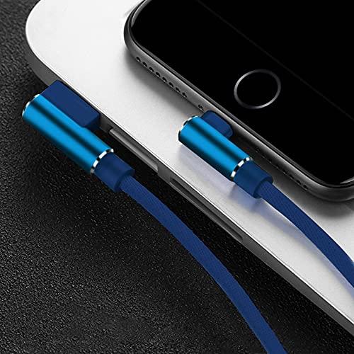 Cargador de Datos USB de2MCable rápido para iPhone X XR XS MAX 12 11 5 6 S 6S 7 8 Plus iPad Phone Origin Cable Largo Carga Azul