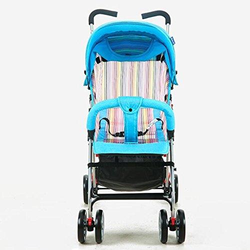 Kinderfiets HAIZHEN Baby Kinderwagen Zomer Reticulated Ventilatie Ultralight Kan Zitten/liggen Schokdemper EVA Foam Wheel Opvouwbaar Aanpassen Zonnescherm Luifel Met Winkelmandje Baby Vervoer voor pasgeboren