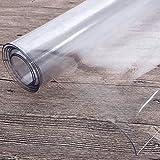 ToPicks PVC Tischdecke Transparent, Tischfolie Durchsichtig Schutztischdecke Abwischbare Tischschutzfolie Abwaschbar Hochglanz Meterware ( ungefähr 90 x 160 cm) - 6