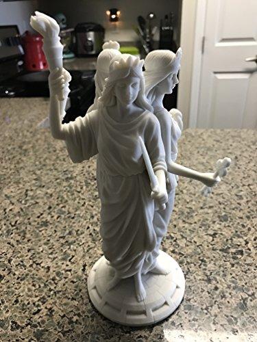 Große griechische Göttin Hekate Dreifache Göttin Statue (weiß)