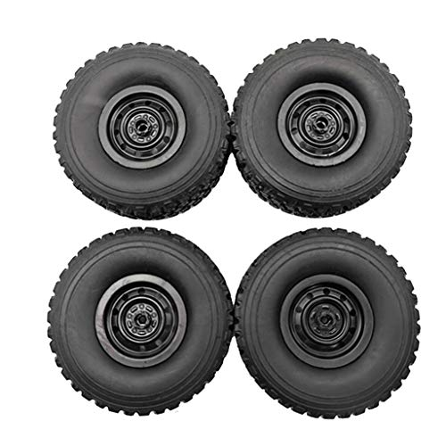 SNOWINSPRING Upgrade Metal Wheel Rim Kit Wheel Hub for WPL B1 B-1 B14 B-14 B16 B-16 B24 B-24 C14 C-14 B36 with Screws RC Truck RC Car Parts,Black