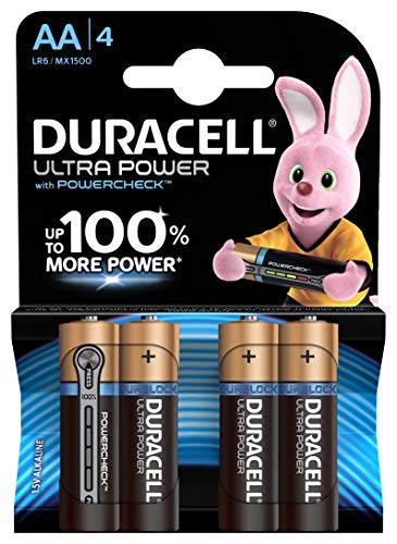 Duracell Ultra Power Typ AA Alkaline Batterien, 4er Pack