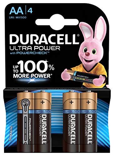Duracell Ultra Power Batterie Alcaline, Stilo AA, Confezione da 4