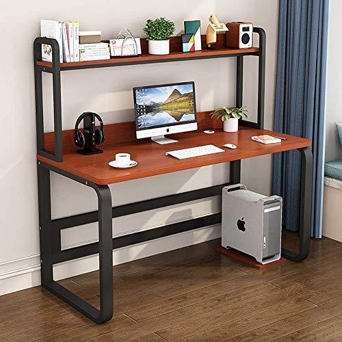 N/Z Living Equipment Escritorio de computadora Grande Moderno de 47 Pulgadas con aparador y estantería Mesa de Estudio Simple Escritorio de estación de Trabajo con Ahorro de Espacio para Oficina