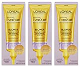 L'Oreal Paris Hair Expertise - EverPure Brass Banisher System - Blonde Shade Reviving Treatment - Net Wt. 4.2 FL OZ (125 mL) Each - Pack of 3