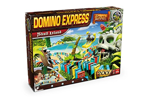 Goliath - 80897.004 - Jeu de Construction - Domino Express - Ile Maudite Pirate - Skull Island - 200 dominos