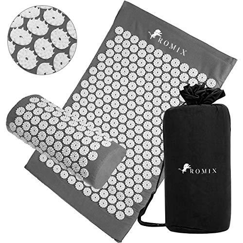 ROMIX Acupressure Mat and Pillow Set, Wellness Therapy Massage Mat,...