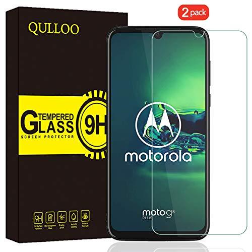 QULLOO Panzerglas für Moto G8 Plus, 9H Hartglas Schutzfolie HD Bildschirmschutzfolie Anti-Kratzen Panzerglasfolie Handy Glas Folie für Motorola G8 Plus