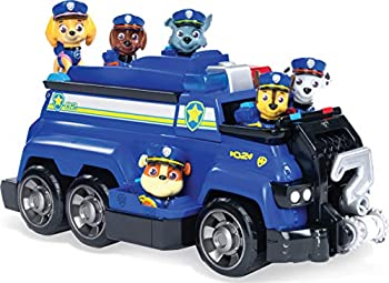 PAW Patrol Chase's Total Team Rescue Police Cruiser Vehicle with 6 Pups for Kids Aged 3 and Up