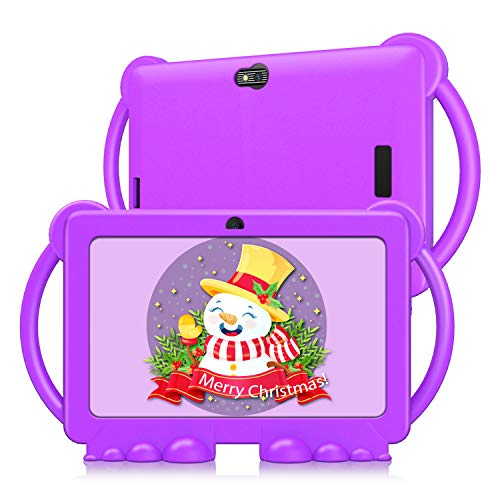 Kids Tablet, 7 inch Tablet for Kids, Android 9.0 GMS Tablet, 3GB RAM 32GB ROM Kids Edition Tablet with WiFi, Pre-Loaded 3D Game, Dual Camera, Purple Kid-Proof Case