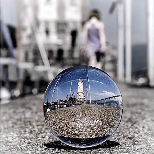 Yeti-Gold Glaskugel Fotografenqualität 8cm (Glaskugel Plus Glassockel)