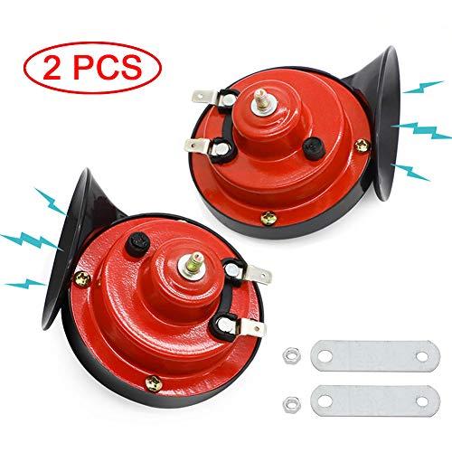 WIKIBB Train Horn for Truck,Car Air Electric Snail Horn,12V Waterproof Air Horns Kit Super Loud for Car,Trucks,Motorcycle, Bikes & Boats(2 Pcs)