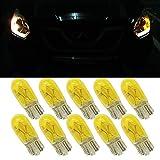 Jaune T10W5W LAMPE halogène–T10ampoules halogènes W5W 194168501Wedge ampoule de lampe halogène DC 12V 5W Jaune pour voiture Feu de position côté machine à tableau de bord lumière