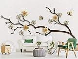 Papier Peint 3D Fer Sculpture De Jade Fleur De Moderne Intissé Papier Peint...