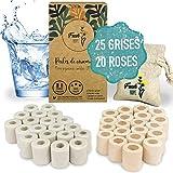 Fresh Hope - 45 perlas de cerámica para filtración de agua, 25 grises + 20 rosas, purificador / filtro antical Zero Dechet   Agua grifo – Acuario – Máquina de café – Lavavajillas