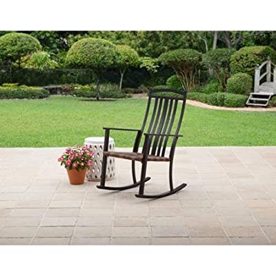 Comfort and Style Generic Better Homes and Gardens Belle Drive Steel Wicker Patio Rocking High Back Chair Sturdy Steel Frame