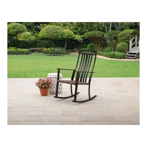 Comfort And Style Generic Better Homes And Gardens Belle Drive Steel Wicker  Patio Rocking High Back