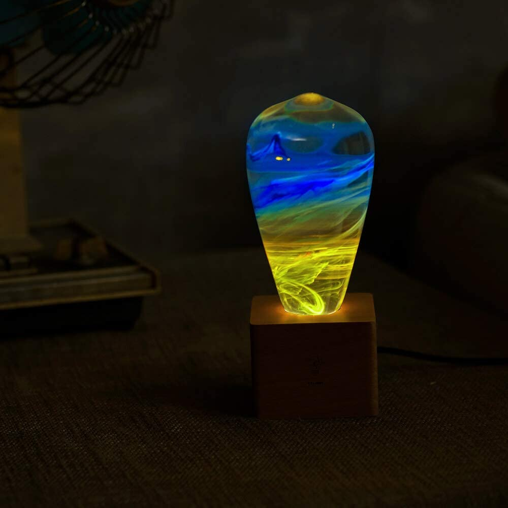 A surprise price is realized Max 76% OFF HMISRULE Resin Bedside Lamp Small Desk E27 An E26 Base 3W